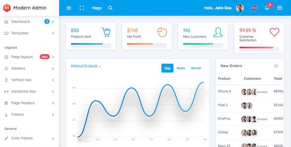 Modern Admin - Clean Bootstrap 4 Dashboard HTML Template + Material Design