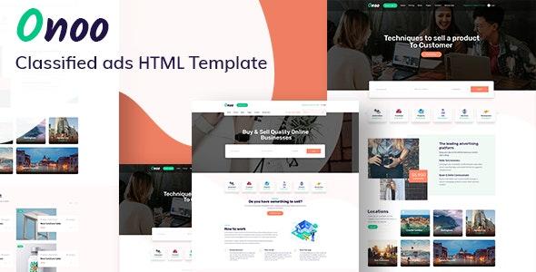 Onoo – Classified Ads HTML Template - Corporate Site Templates