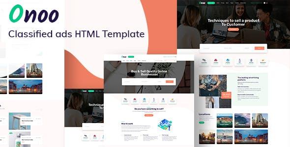 Onoo – Classified Ads HTML Template