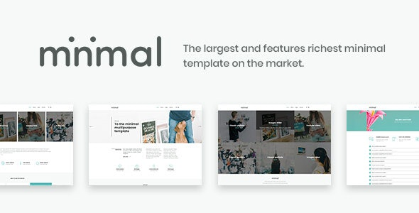 Minimal - White And Clean Template - Corporate Site Templates