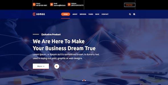 Exomos - Business PSD Template