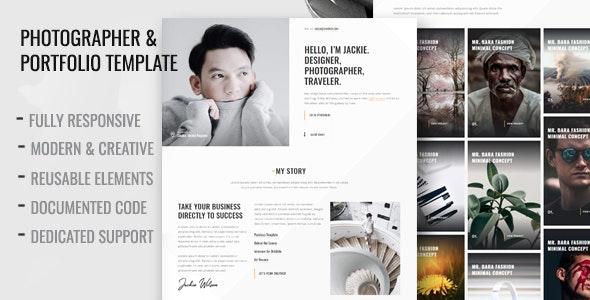 Mocha - Photographer & Personal Portfolio Template - Portfolio Creative