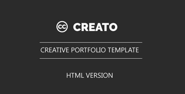 Creato - HTML Portfolio Template - Portfolio Creative