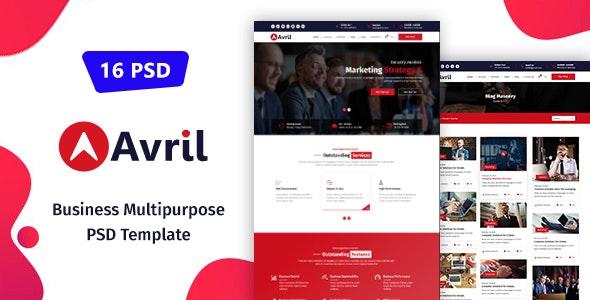 Avril - Business Multipurpose PSD Template - Business Corporate