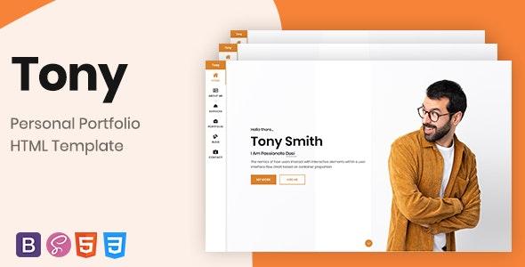 Tony– Bootstrap 4 Personal Portfolio - Personal Site Templates