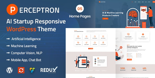 Perceptron - AI Startup WordPress Theme - Technology WordPress