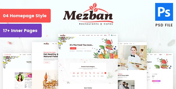 Mezban - Food Delivery, Food Blogger & Restaurant PSD Template - Food Retail