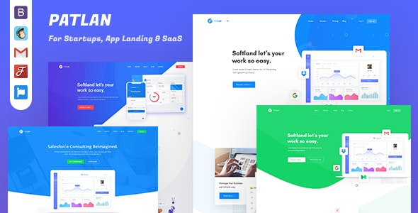 PatLan - Agency, Startup and SaaS Landing Page Template - Technology Site Templates