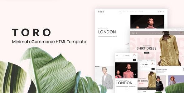 Toro – Minimal eCommerce HTML Template - Fashion Retail