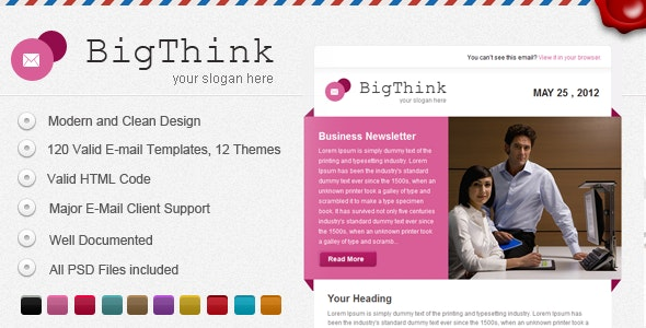 BigThink E-mail Template - Email Templates Marketing