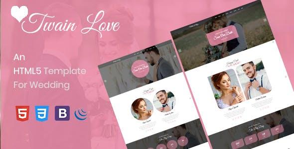 Download Twain Love - Responsive HTML5 Wedding Template