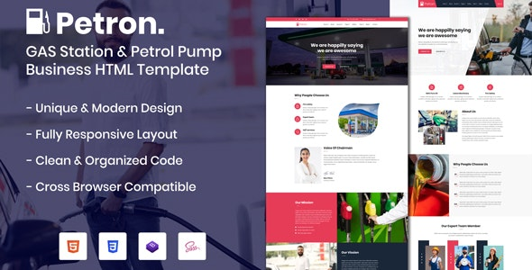 Petron - GAS Station & Petrol Pump Business HTML Template - Business Corporate