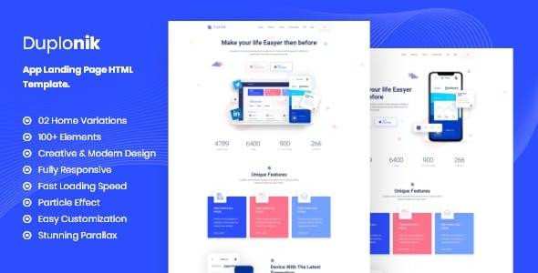 Duplonik - App Landing Page HTML Template