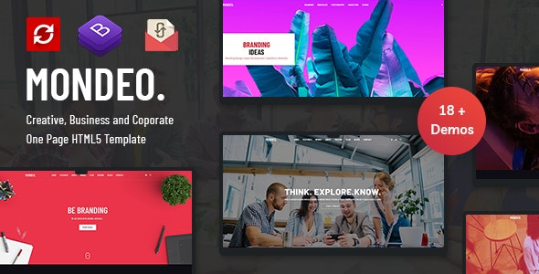 Mondeo - One Page Creative Marketing HTML Template - Creative Site Templates