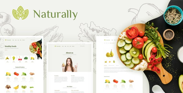 Naturally - Organic Food & Agriculture HTML Template - Food Retail