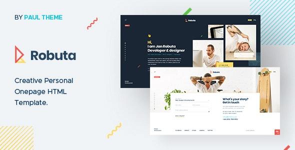 Robuta - Personal Onepage PSD Template - Portfolio Creative