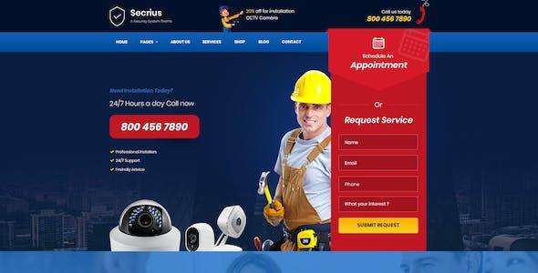 Secrius - Security Services  Multipurpose PSD Template