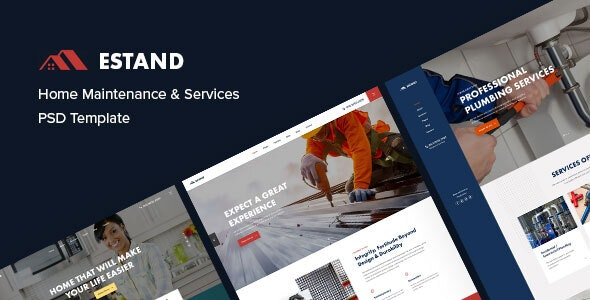 Estand | Home Maintenance and Services PSD Template - Business Corporate