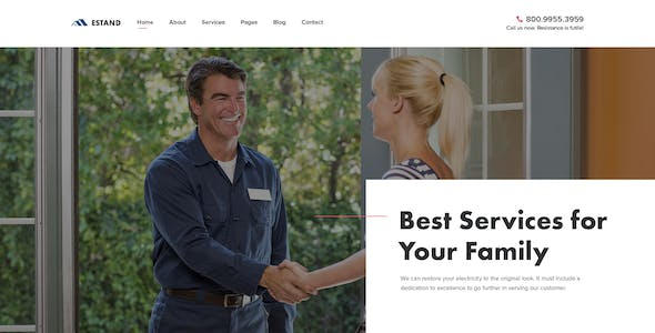 Estand | Home Maintenance and Services PSD Template