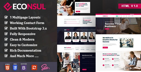 Econsul - Consulting Finance HTML5 Template - Business Corporate