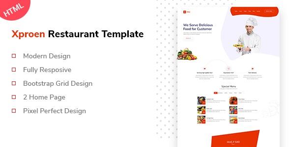 Xproen Restaurant Html Template - Food Retail