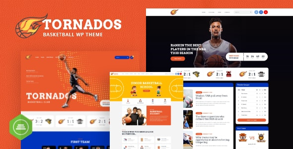 Tornados | Basketball NBA Team WordPress Theme - Entertainment WordPress
