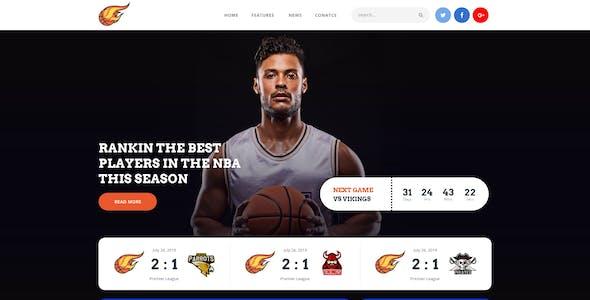 Tornados   Basketball NBA Team WordPress Theme