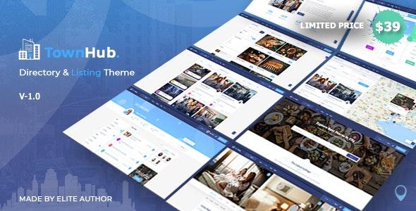 TownHub - Directory & Listing WordPress Theme - Directory & Listings Corporate