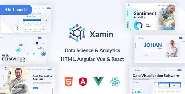 Xamin Data Science & Analytics HTML, Angular, Vue & React Template - Site Templates