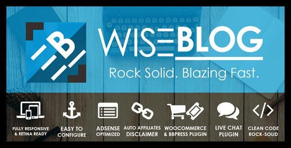 Wise Blog | Multi-Purpose AdSense Optimized WordPress Theme - News / Editorial Blog / Magazine
