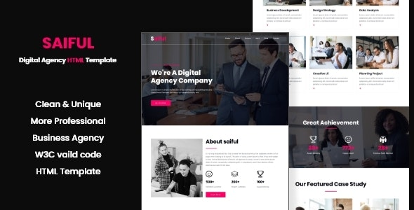 Saiful - Digital Agency HTML Template - Creative Site Templates