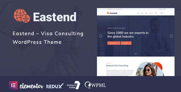 Eastend – Visa Consulting WordPress Theme - Business Corporate
