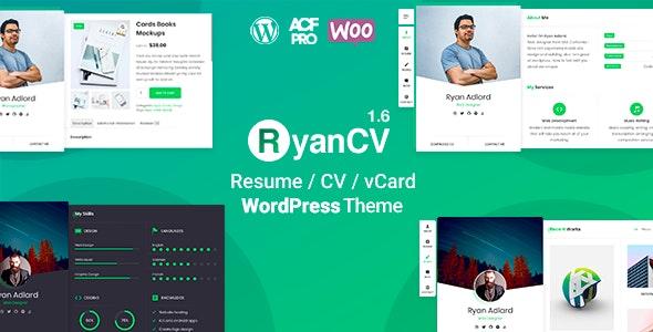 RyanCV | CV/Resume Theme - Portfolio Creative