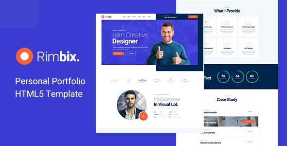 Rimbix - One Page Personal Portfolio HTML5 Template - Portfolio Creative