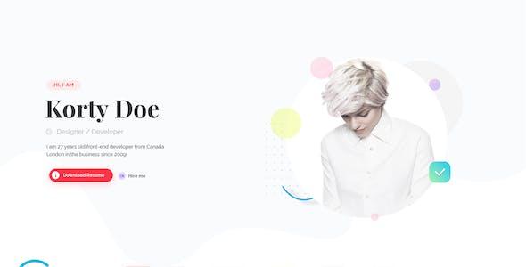 Resumel – Creative CV Resume and Portfolio PSD Template