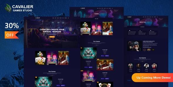 Cavalier - Gaming Studio WordPress Theme + RTL - Entertainment WordPress