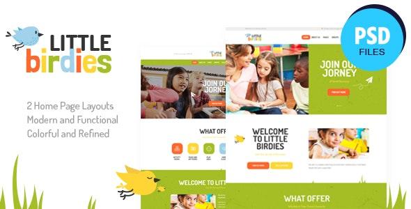 Little Birdies | Multipurpose Children PSD Template - Children Retail