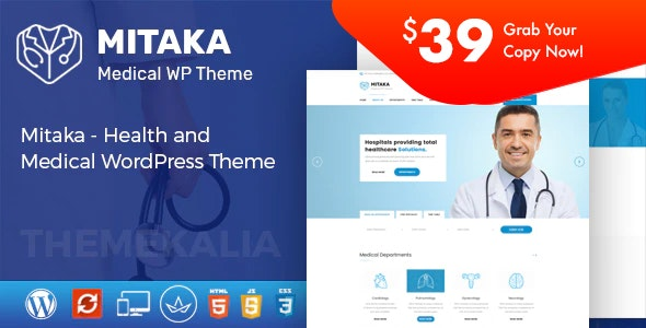 Mitaka - Medical WordPress Theme - Health & Beauty Retail
