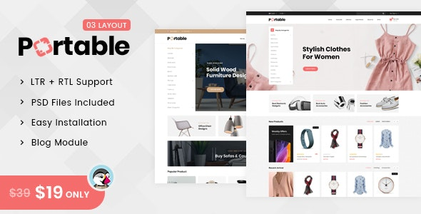 Portable - MegaStore Prestashop 1.7 Responsive Theme - Shopping PrestaShop