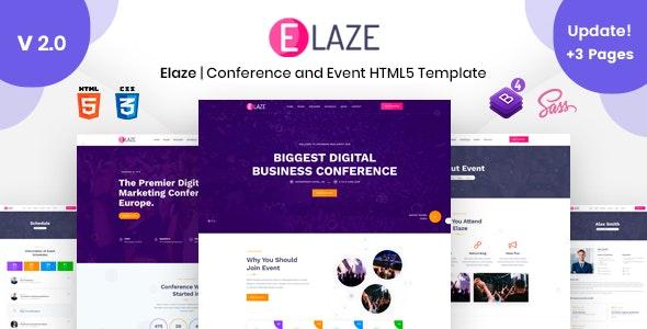 Elaze - Conference | Event HTML Template - Events Entertainment