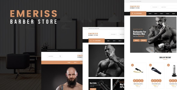 Emeriss - Barber Store HTML Template - Shopping Retail