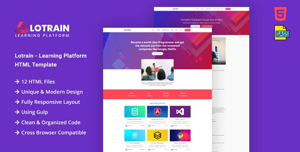 Lotrain - Online Teaching HTML Template - Business Corporate