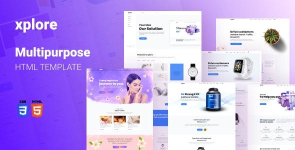 Xplore - Multipurpose Website Template - Corporate Site Templates