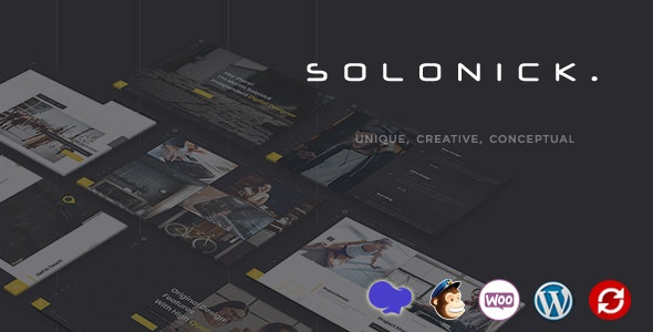 Solonick - Personal Portfolio WordPress Theme - Portfolio Creative