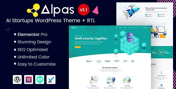 Alpas - AI Startups WordPress Theme - Technology WordPress