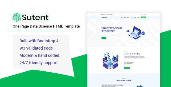Sutent - Data Science HTML Template - Miscellaneous Site Templates