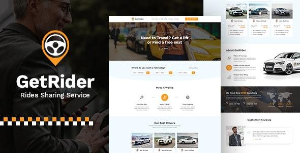 Getrider - Share Ride PSD - Travel Retail
