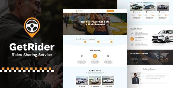 Getrider - Share Ride PSD