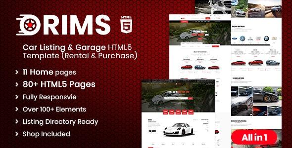 Rims | Car Services HTML5 Template - Retail Site Templates