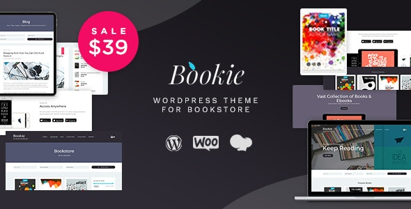 Bookie - WordPress Theme for Books Store - WooCommerce eCommerce